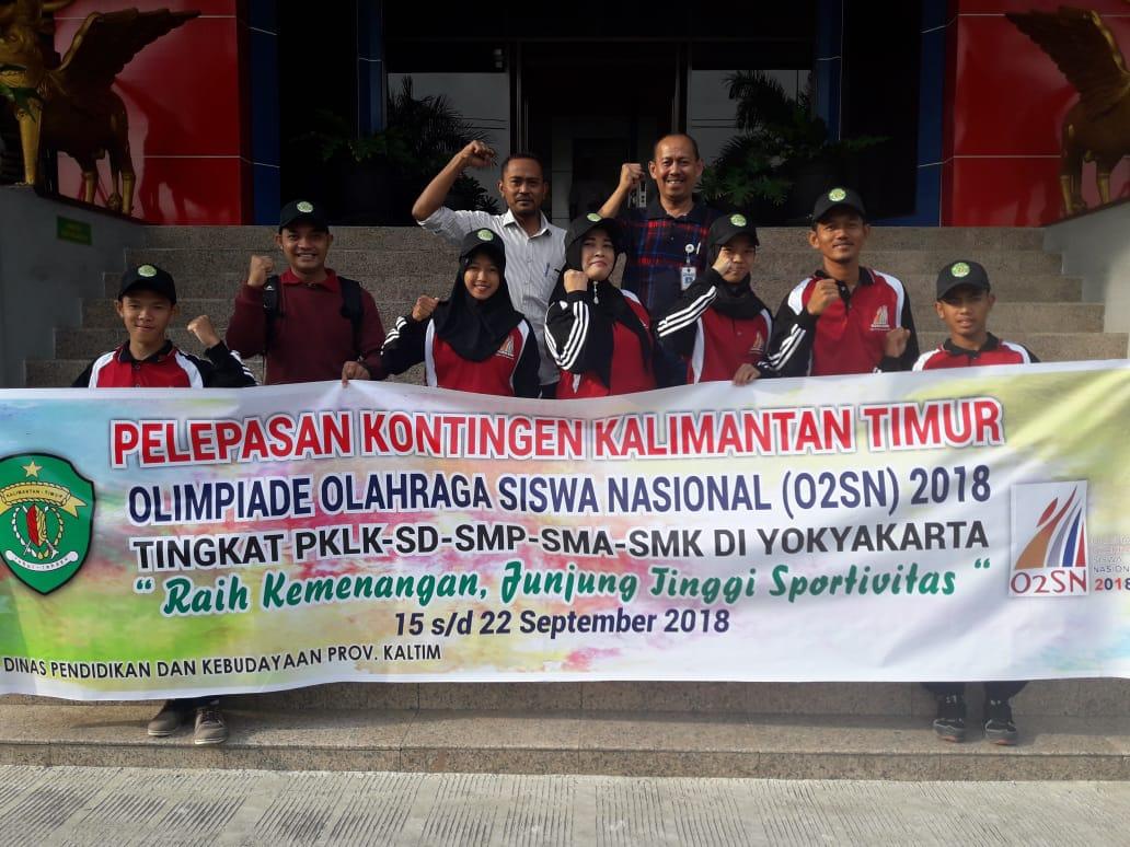 Pelepasan Kontingen Kalimantan Timur O2SN 2018