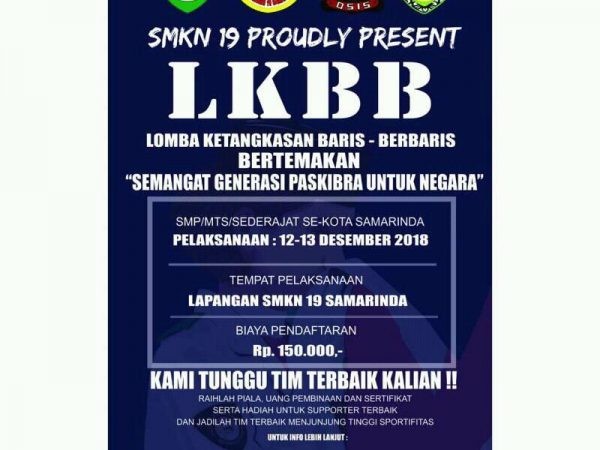 Lomba LKBB Tingkat SMP/MTs/Sederajat Se-Kota Samarinda Tahun 2018