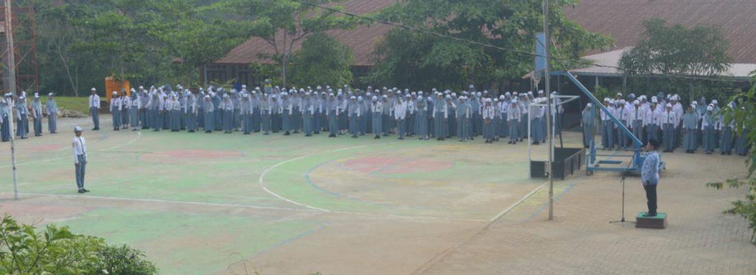 Upacara Hari Sumpah Pemuda ke 91 SMKN 19 Samarinda